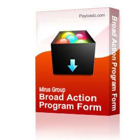 Broad Action Program Form | Other Files | Documents and Forms