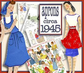 ~Make 21 RETRO APRONS ~1945 Pattern~ | eBooks | Arts and Crafts