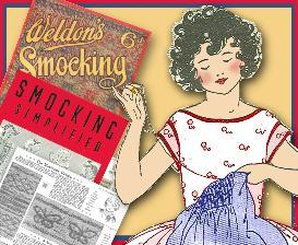 ~learn how to smock~ 2 vintage booklets ~1930 & 40's!