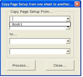 copy page setup for excel