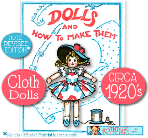 SEW quaint VINTAGE DOLLS Book #ONE~1920-30s~RARE Booklet | eBooks | Arts and Crafts