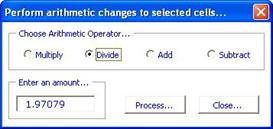 perform mass arithmetic changes in excel