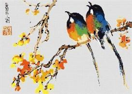 rare birds cross stitch pattern