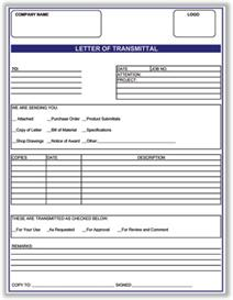 Transmittal Template | Software | Add-Ons and Plug-ins
