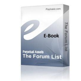 'The Forum List' | Audio Books | Business and Money
