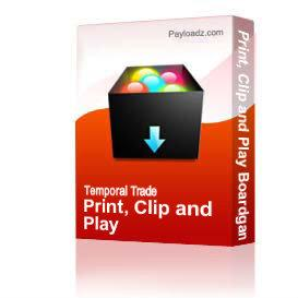 Print, Clip and Play Boardgame | Other Files | Arts and Crafts
