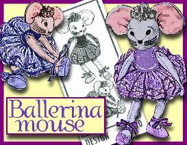 SEW a Sweet BALLERINA MOUSE! 1940's Pattern | eBooks | Arts and Crafts
