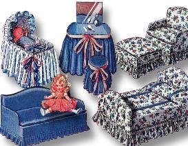 ~MAKE sweet FURNITURE for 4 - 7 Dolls ~1940 Pattern ! | eBooks | Arts and Crafts