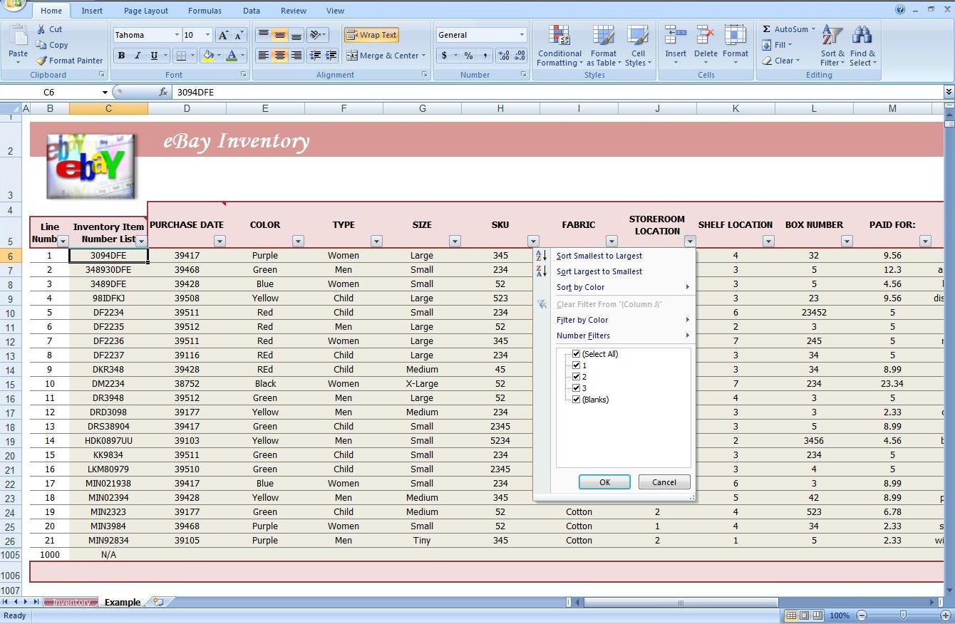 excel inventory management template