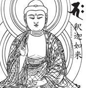 Buddha Tattoo line art Vol.2-1 | Other Files | Stock Art