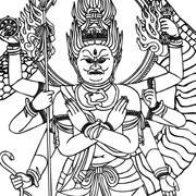 Buddha Tattoo line art Vol.2-2 | Other Files | Stock Art