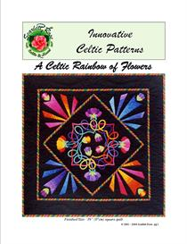 A Celtic Rainbow of Flowers applique pattern | Crafting | Sewing | Quilting