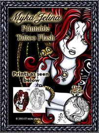 Complete Collection Myka Jelina Printable Tattoo Flash | Other Files | Stock Art