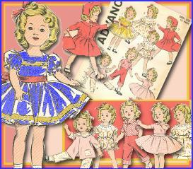 Shirley Temple 12 ~ 7 Outfits~1940s PATTERN | eBooks | Arts and Crafts