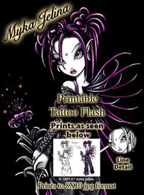 heather myka jelina printable tattoo flash