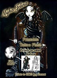 Killing Time Myka Jelina Printable Tattoo Flash | Other Files | Photography and Images