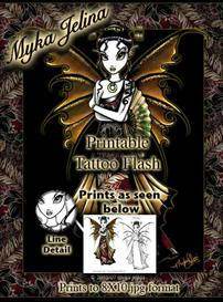 Naomi Myka Jelina Printable Fairy Tattoo Flash | Other Files | Patterns and Templates