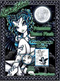 Alexis Myka Jelina Printable Faerie Tattoo Flash | Other Files | Patterns and Templates