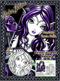 Belladonna Myka Jelina Printable Tattoo Flash | Other Files | Patterns and Templates