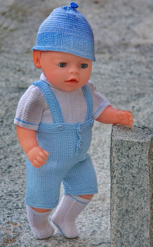 Knitting Pattern For A Dolls Hat : DollKnittingPatterns - 0080D STIAN - PANTS, BLOUSE, HAT AND SOCKS Crafting ...