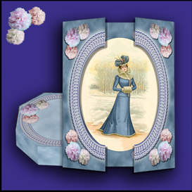 Victorian Elegance Gatefold Card and Gift Box set in Blue | Crafting | Paper Crafting | Other