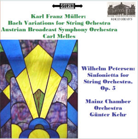 karl franz müller: bach variations - wilhelm petersen: sinfonietta