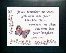 Remember Me - Luke 23:42 | Crafting | Cross-Stitch | Other