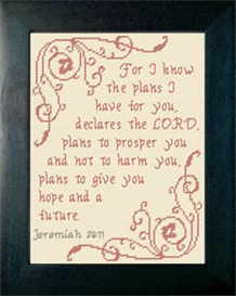 Plans - Jeremiah 29:11 | Crafting | Cross-Stitch | Religious
