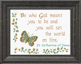 Who God meant You to be - Quote | Crafting | Cross-Stitch | Religious