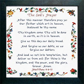 The Lord's Prayer - Matthew 6:9-13 | Crafting | Cross-Stitch | Religious