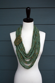 stylish layered chain scarf pattern