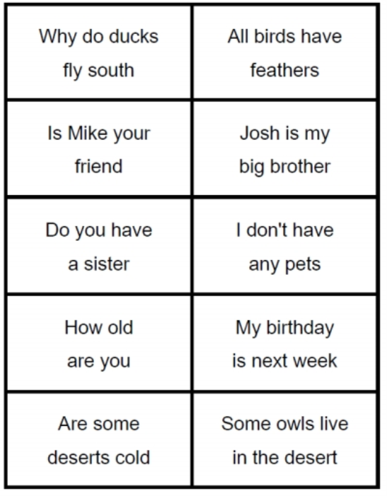Third Additional product image for - Ask or Tell sentences game