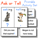 Ask or Tell sentences game | Other Files | Everything Else
