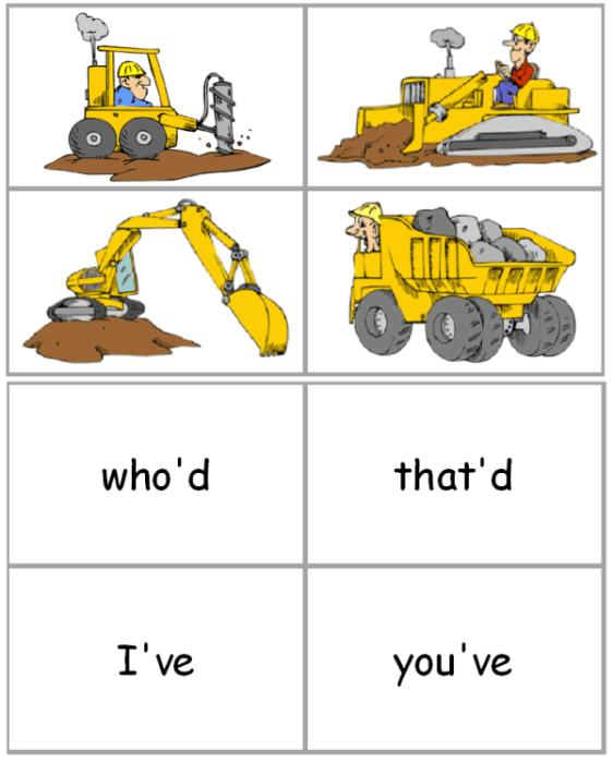 First Additional product image for - Constructing Contractions Activity Cards