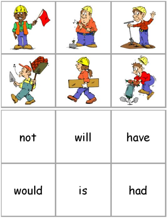 Second Additional product image for - Constructing Contractions Activity Cards