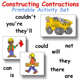 Constructing Contractions Activity Cards | eBooks | Children's eBooks