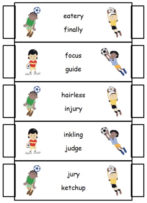 Second Additional product image for - Guide Word Goalies Dictionary Skills Game