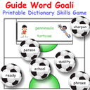 Guide Word Goalies Dictionary Skills Game | Crafting | Paper Crafting | Other