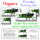 Hoppers Double the Consonant Activity | Crafting | Paper Crafting | Other