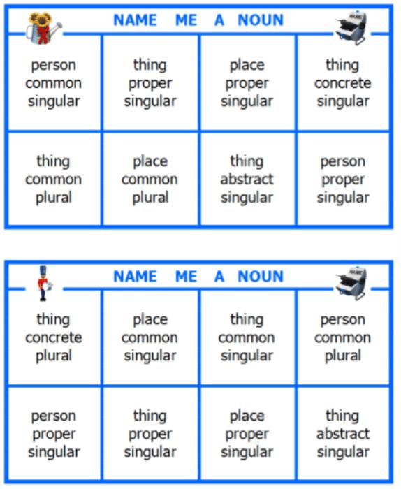 First Additional product image for - Name Me a Noun Printable Grammar Game