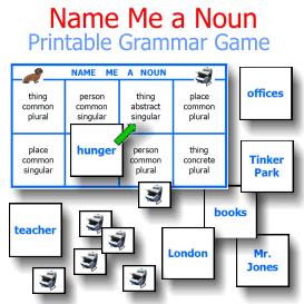 Name Me a Noun Printable Grammar Game | eBooks | Children's eBooks