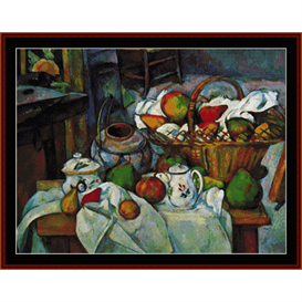 Vessels, Basket & Fruit - Cezanne cross stitch pattern by Cross Stitch Collectibles | Crafting | Cross-Stitch | Wall Hangings