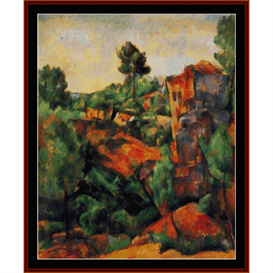 Bibemus Quarry - Cezanne cross stitch pattern by Cross Stitch Collectibles | Crafting | Cross-Stitch | Wall Hangings