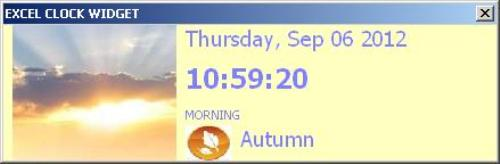 First Additional product image for - MS Excel Real-Time Animated Clock Widget Addin