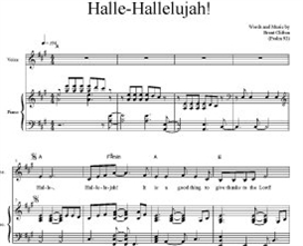 halle-hallelujah! - voice and piano score