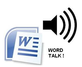 word talk (text to speech program for ms word)