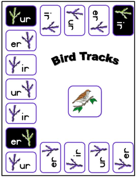 First Additional product image for - Bird Tracks Printable Phonics Game