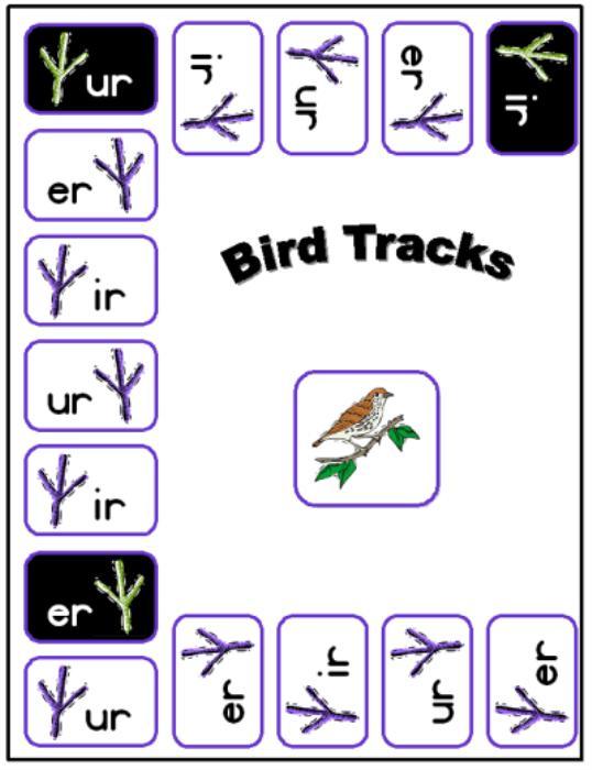 First Additional product image for - Bird Tracks Printable Phonics Game
