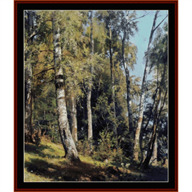 Birch Grove - Shishkin cross stitch pattern by Cross Stitch Collectibles | Crafting | Cross-Stitch | Wall Hangings