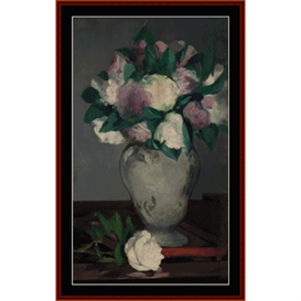 Peonies - Manet cross stitch pattern by Cross Stitch Collectibles | Crafting | Cross-Stitch | Other